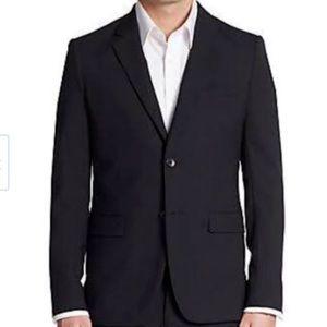 Theory 40R Men's Black Blazer with Lapel